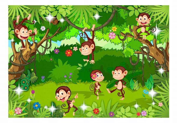 fototapetas Linksmosios beždžionėlės