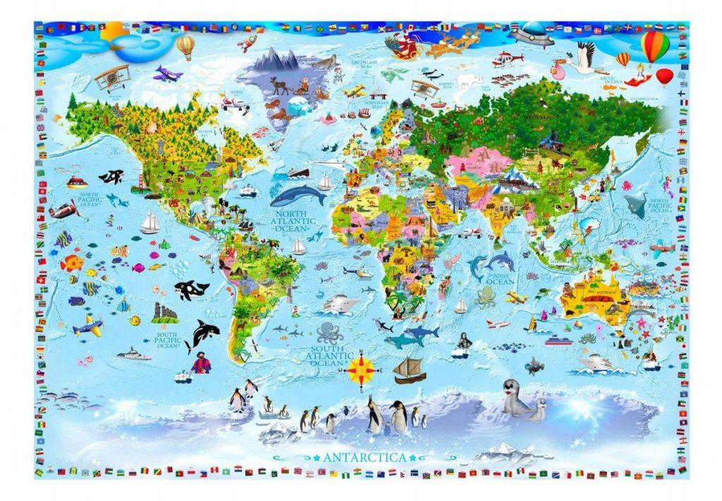 Fototapetas pasaulio pažinimas (gamta, kontinentai, šalys)
