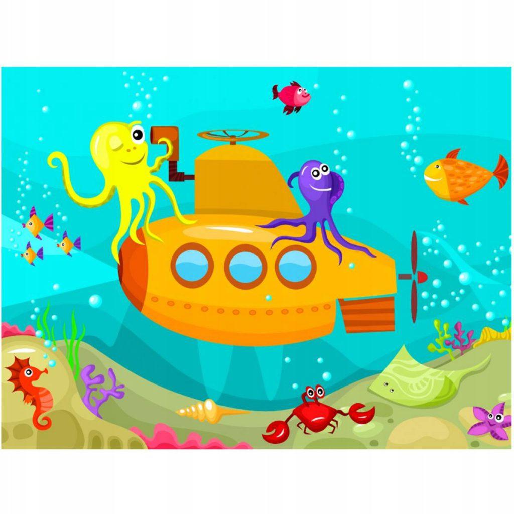 "Fototapetas ""povandeninis laivas jūros dugne"""