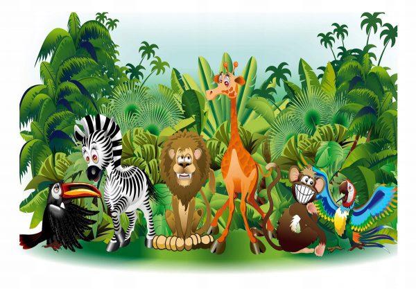 """Fototapetas """"safaris"""" vaikų kambariui"""