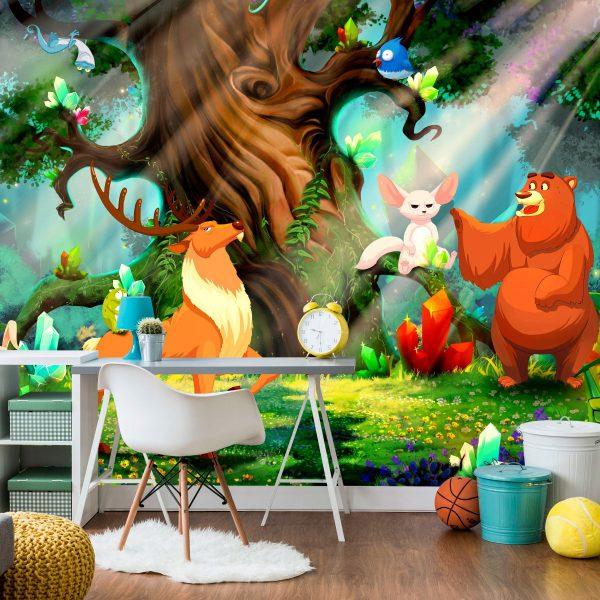 """Fototapetas vaikų kambariui """"miško pasaka"""""""