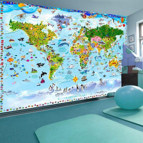 """Fototapetas vaikų kambaryje """"Pasaulio pažinimas"""""""
