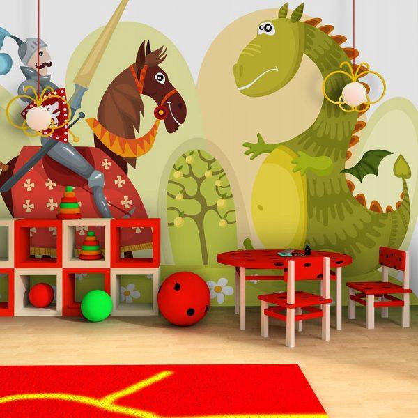 """Fototapetas vaikų kambariui """"princas ir drakonas"""""""