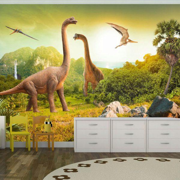 Fototapetas vaikų kambariui su dinozaurais