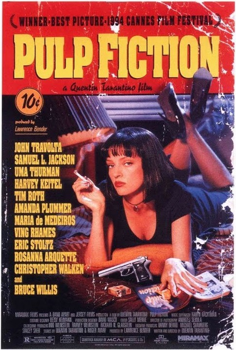 Plakatas pulp fiction