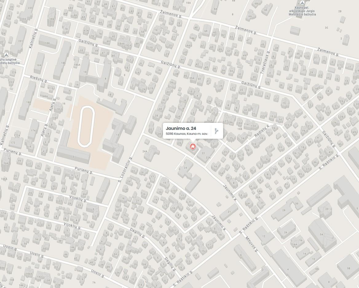 Rėminimas Kaune, žaliakalnyje. GARIVA, UAB (žemėlapis)