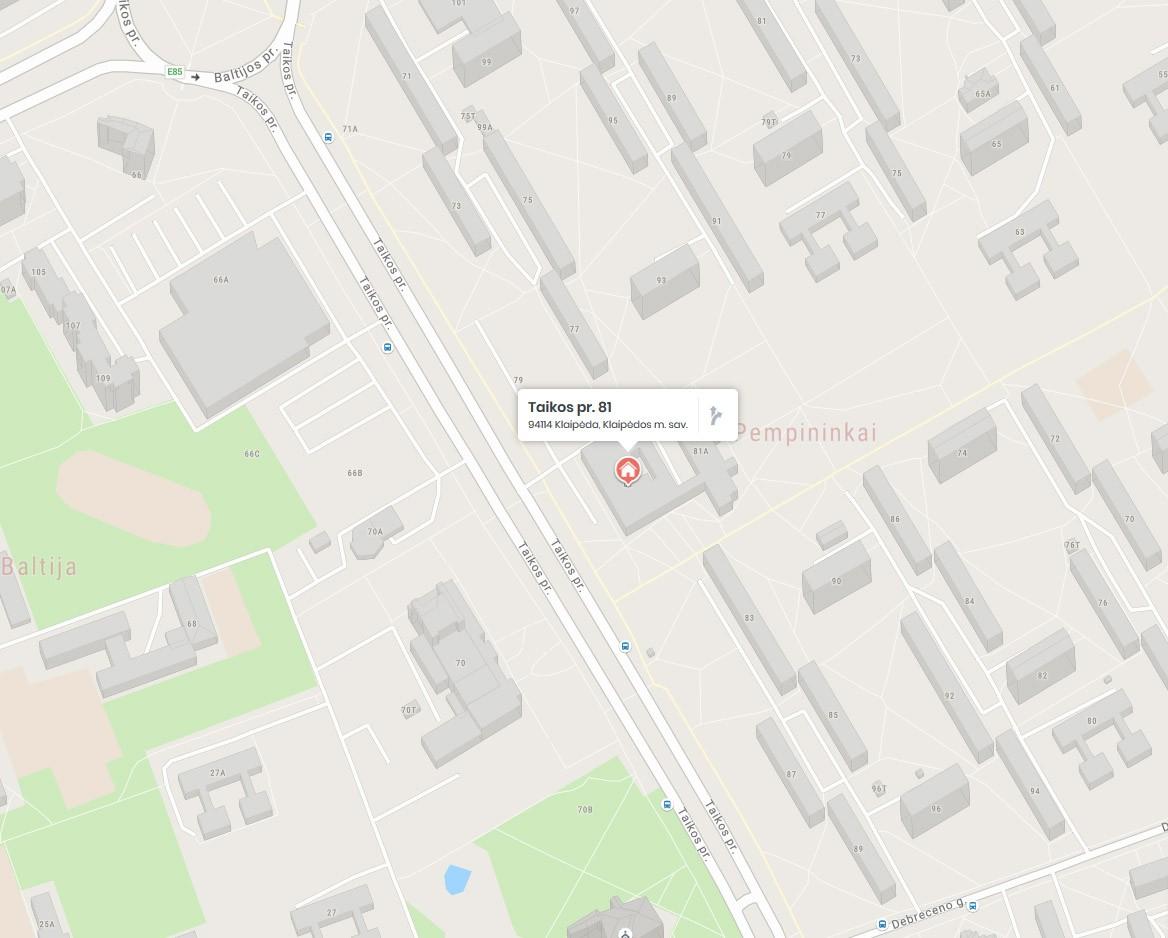 Rėminimas Klaipėda / Taikos Pr. 81, GARIVA (žemėlapis)