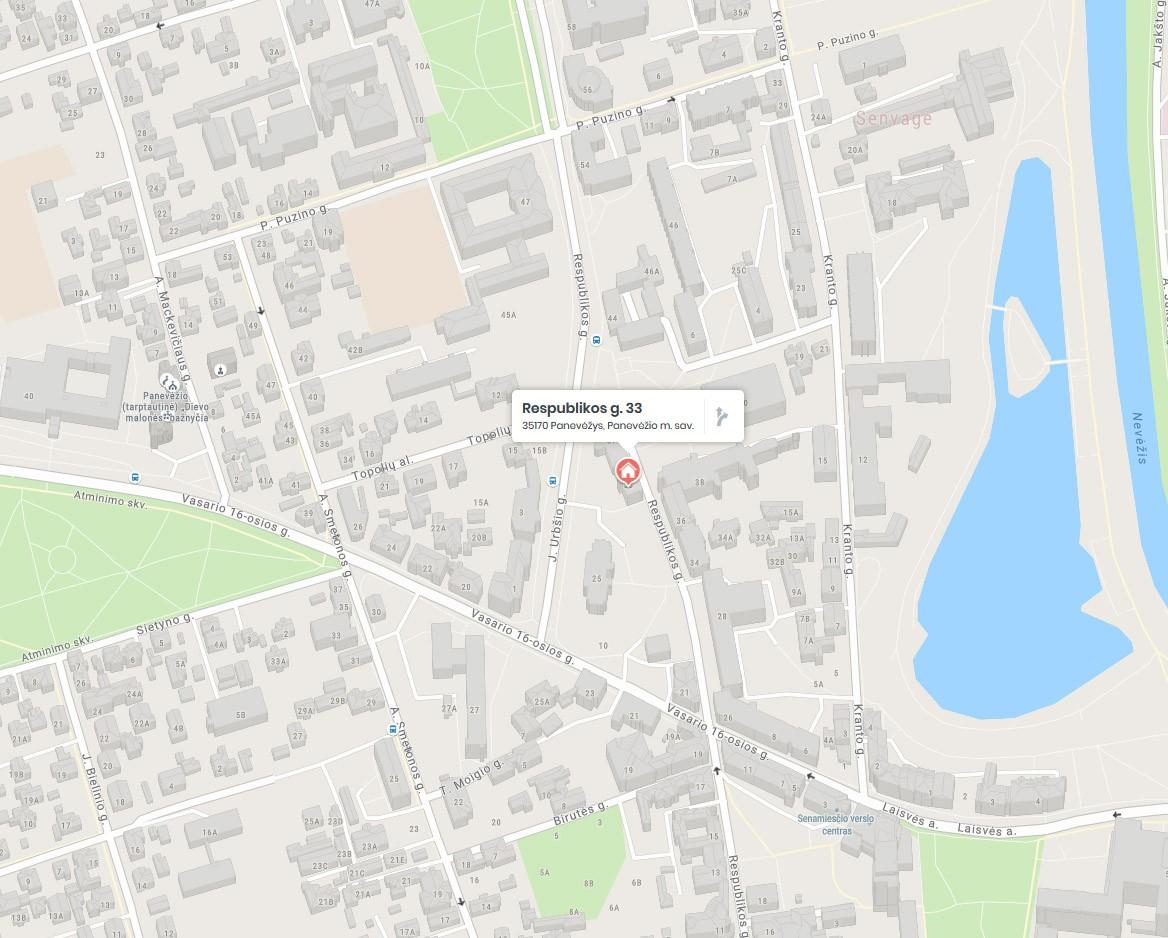 DAILININKŲ REIKMENYS. Rėminimo paslaugos panevėžyje (žemėlapis)