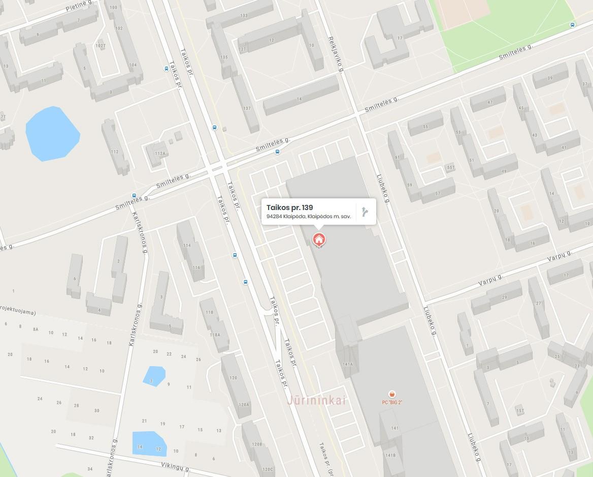 Rėminimo paslaugos Klaipėda (PC BIG) fotocentras adresu taikos pr 139 (žemėlapis)