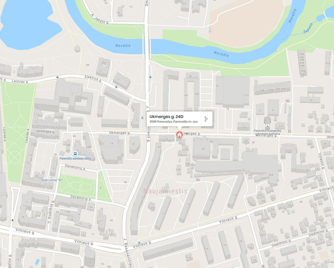 Rėmų Rojus / Panevėžys / Rėminimo paslaugos adresu ukmergės g. 24d (žemėlapis)