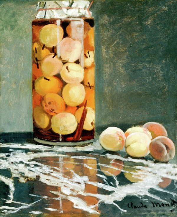 "Reprodukcija Claude Monet ""Jar of Peaches"""